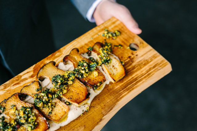 forklift-catering-boston-event-King-Oyster-Mushrooms-with-Pistachio-Salsa-Verde-Kelly-Benvenuto-Photography