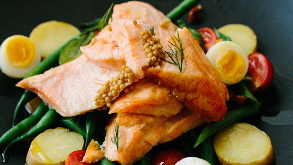 Forklift Catering - Corporate Event - Chancy Charm Photography Salmon Plated