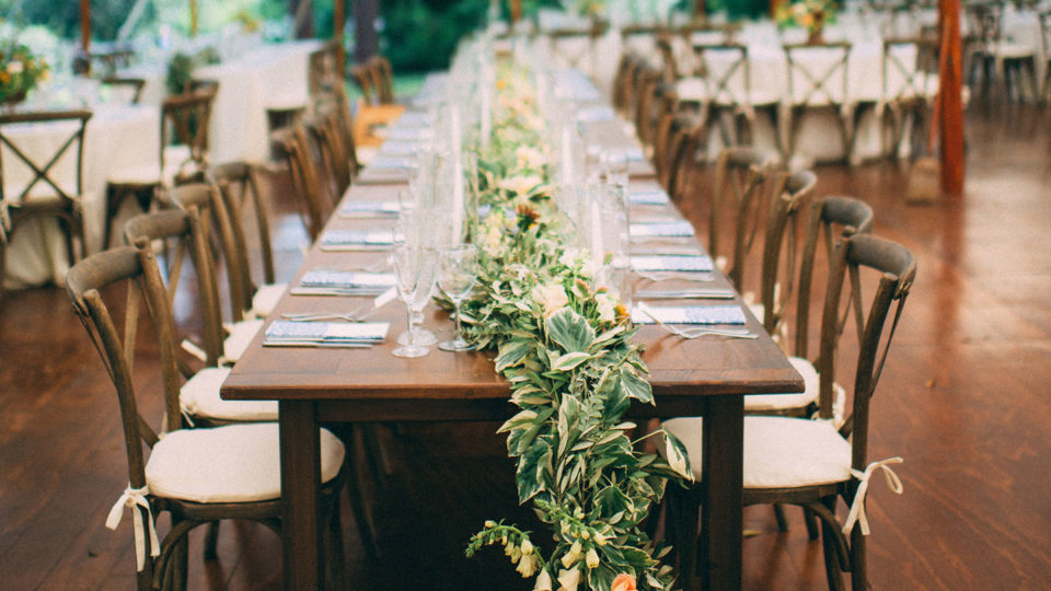 forklift catering - event - Cambria Grace Photography - Event - Wedding Tent