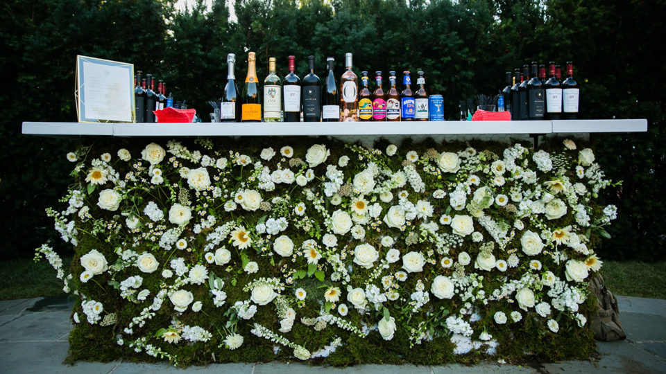 Forklift Catering - Gala Event - Bruce Plotkin - flower bar