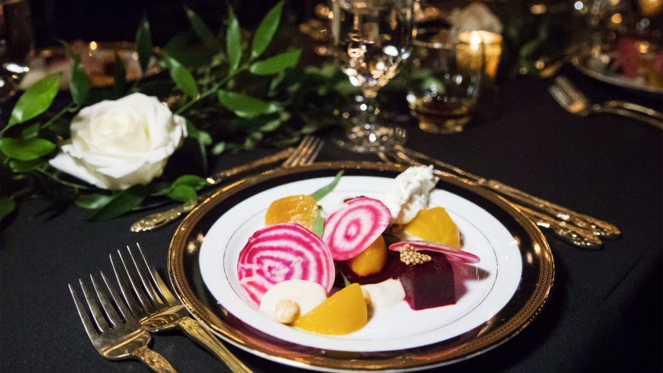 Forklift Catering - Gala Event - Root Photography - Salad Course
