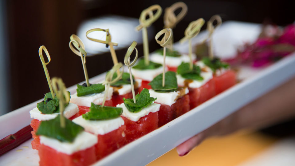 Forklift Catering - Gala Event - Allegro Photography - Watermelon Appetizer