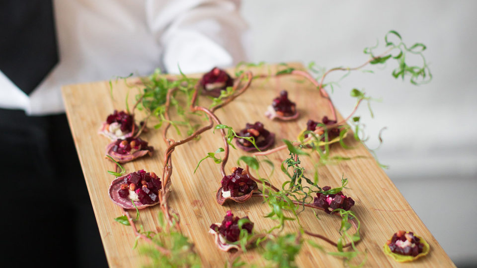 Forklift Catering - Wedding - Cole Kiera Photography - Beet Chip