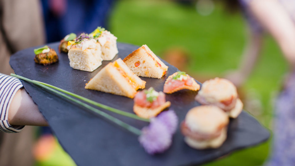 Forklift Catering - Wedding - Mark Davidson Photography - Passed hors d'oeuvres