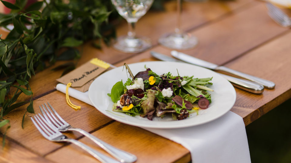 Forklift Catering - Wedding - Mark Davidson Photography - Salad Course