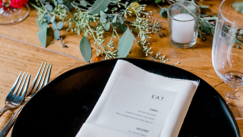 Forklift Catering - Wedding - Somerby Jones Photography - Custom Menu inspiration